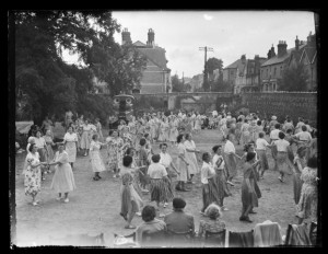 The WI country dancing. Date? 1950s?