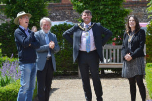 Visit by the Mayor of Reading July 2020 for the NGS Virtual Tour launch